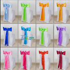 "1/10 Pcs Satin Chair Cover Sash Bows 6"" x 108"" Banquet Wedding Decor 13 Colors"