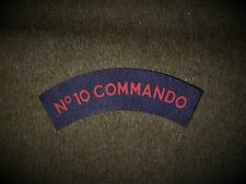 No10 Army Commando reproduction printed badges WWII  for Battledress