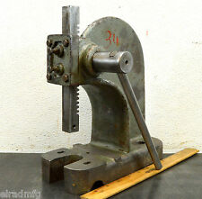 ENCO MODEL 90600 ARBOR PRESS 1/2 TON BENCHTOP RACK AND PINION LEVER PRESS USED