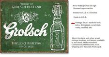 Grolsch TIN SIGN beer ad metal poster vintage rustic bar garage wall decor 2079