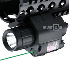 New Tactical Green Laser Sight & Flashlight Compact Combo Picatinny Rail Mount