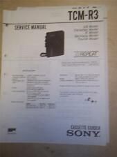 Sony Service Manual~TCM-R3 Cassette-Corder~Original~Repair