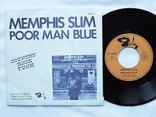 """MEMPHIS SLIM Poor man blue/Poor man blue FRENCH 7"""" 45 w/PS BARCLAY(1975)"""