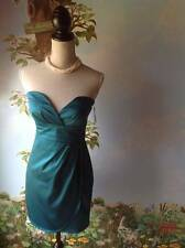 Charlotte Russe Women's Teal Green Strapless Sweetheart Dress SZ M New