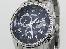 NEW HANDMADE DIAMOND SET 1.3 Ct DIAMOND CITIZEN ECO DRIVE WATCH BL8000-54L