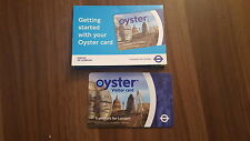 Original London  OYSTER VISITOR CARD (single logo) & RARE paper sleeve