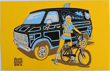 Porkchop / Jeff Troldahl custom 70's van old school BMX POSTER signed & numbered