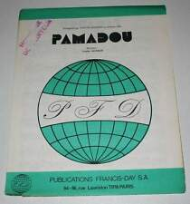 Partition vintage sheet music YVETTE HORNER : Pamadou * Accordéon