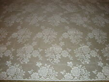 "New White Lace Rose Bouquet design Tablecloth. 52"" x 70"""