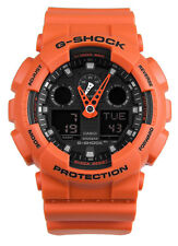 Casio G-Shock Military Series Ana-Digi 200m Orange Resin Watch GA100L-4A