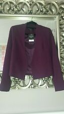 BNWT TOPSHOP TALL PURPLE JACKET SIZE 8