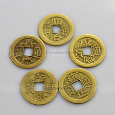 Feng Shui Lucky Coins Qing Emperor Coin Fortune Health Lucky Charm 5PCS 1 Set