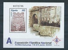 ESPAÑA 2000 Exposición Filatélica Nacional Avilés ED. 3716 HB