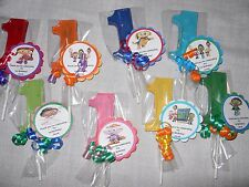 12 PBS Super Why Gourmet 1st Birthday Lollipop Party Personalized Favor tags