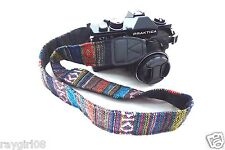 EthnicTribal Native Geometric Vintage Look dSLR Universal Camera Strap NEW B
