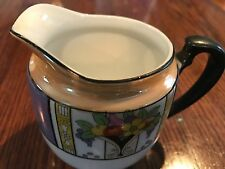 Noritake art deco Lusterware era hand painted creamer,