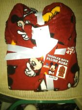 NWT $34 BOYS DISNEY MICKEY MOUSE SOFT PLUSH RED ROBE SIZE 2T