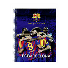 Official Licensed Football Club FC Barcelona A4 Note Book School Class Gift New
