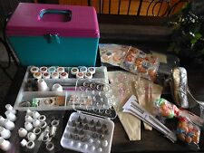 WILTON Cake Decorating Supplies Lot w/ Storage Box ~Tips~Bags~Dye~Toppers~Molds