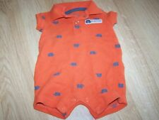 Infant Size Newborn NB Carter's Orange Wildly Cute Elephant Polo Shirt One-Piece