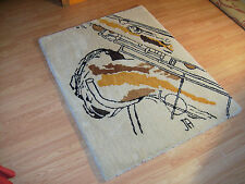 RUG ~Thick and Soft Saxophone Sketch Rug ~Selmer Mark VI ~SBA ~Conn 10M 30M Sax