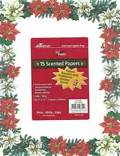 Red Poinsettia Letter Size Designer Scented Computer Paper - New In Package