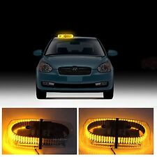 Car 240 LED Amber Warning Strobe Light Recovery Beacon Magnetic Emergency Bar