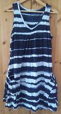 Lauren Vidal Tunika Kleid XL 40 42 44 38  schwarz-weiss BW 50 - 55 cm Taschen