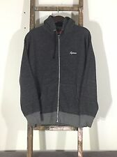 Vintage SUPREME Hooded Sweatshirt Hoody Size XL Rare 2008 Grey Heavyweight NYC