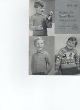 Knitting Pattern Children's Twin Set & SWEATER GIRL'S 4ply a Maglia P&B 650