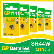 GP Silver Oxide Button Battery 357 (SR44) card of 5  [WATCH & CALCULATOR]
