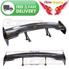 """For ACURA 57"""" 3D 3DI GT JDM Universal  Real Carbon Fiber Rear Roof Spoiler Wing"""