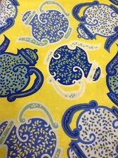 Fat Quarter Liberty Mayfair Teapots Blue Cotton Quilting Fabric - Rowan Fabrics