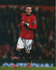 Juan MATA Signed Autograph 10x8 Photo AFTAL COA Manchester United Spain RARE