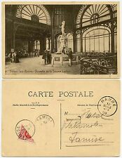 BELGIUM BISECTED POSTAGE DUE TAMISE TAMSE 1909 from HAMME PRINTED POSTCARD RATE