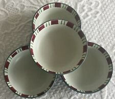 """LENOX WINTER GREETINGS EVERYDAY 4 DIPPING DISHES 2.75"""" CATHERINE McClung tartan"""