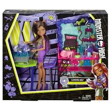 New monster high clawdeen wolf poupée clawesome pet salon loup-garou plaset cat