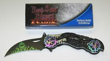 DARK SIDE BLADES FANTASY GHOST MOTORCYCLE EINHANDMESSER NEU/OVP !!