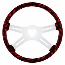 "18"" SKULL STEERING WHEEL ( RED)  PETERBILT  KENWORTH  FREIGHTLINER INTERNATIONAL"