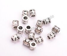 20/50/100Pcs Antique Tibetan Silver Flower Big Hole Spacer Beads 3MM Hole CA3021