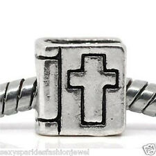 """""""Bible with Cross"""" Charm Bead Spacer for European Snake Chain Charm Bracelets"""