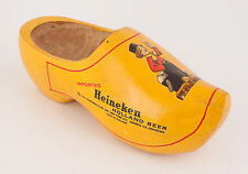 Vintage Heineken Holland Beer Carved Wooden Shoe/Clog Painted Advertising Piece