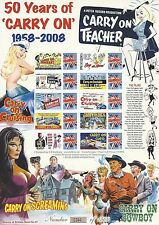 GB 2008 50 Years of 'Carry On' Comedy Films Limited Edition smiler stamp sheet