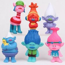 Trolls Poppy Branch Playset 6 Figure Cake Topper * USA SELLER* Toy Doll Set