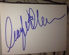 AMY WILLERTON SIGNED 6X4 WHITE CARD MODEL MISS UNIVERSE 100% GENUINE