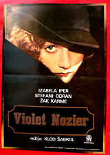 VIOLETTE NOZIERE 1978 ISABELLE HUPPERT AUDRAN CARMET CHABROL EXYU MOVIE POSTER