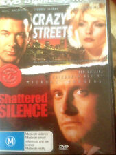 DOUBLE  FEATURE * CRAZY STREETS & SHATTERED SILENCE   * USED   DVD  *