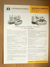 Catalogue Tracteur Chenilles TD15 INTERNATIONAL  IH Mac Cormick  Truck LKW