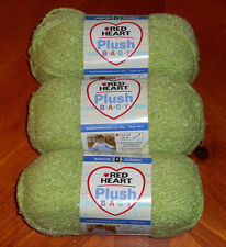 "Red Heart ""Plush Baby"" Yarn Skeins Lot Of 3 Skeins (Kiwi #9620) 3.5 oz. Skeins"