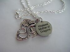 KHALEESI 'Mother of Dragons' Necklace Game of Thrones GoT Dragon Cosplay